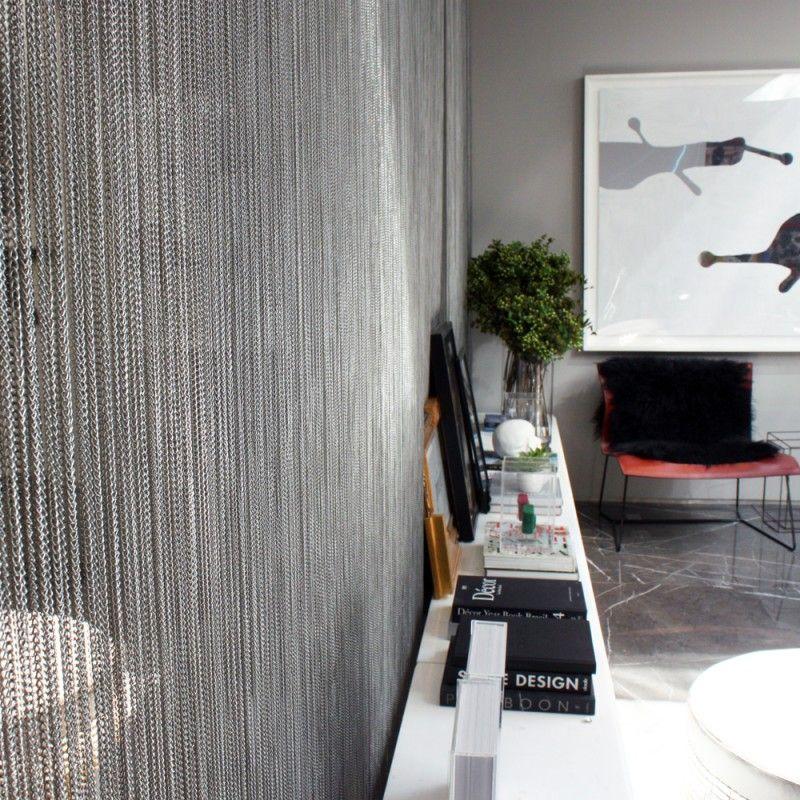 Metal Ball Chain Room Divider Modern Room Divider Living Room