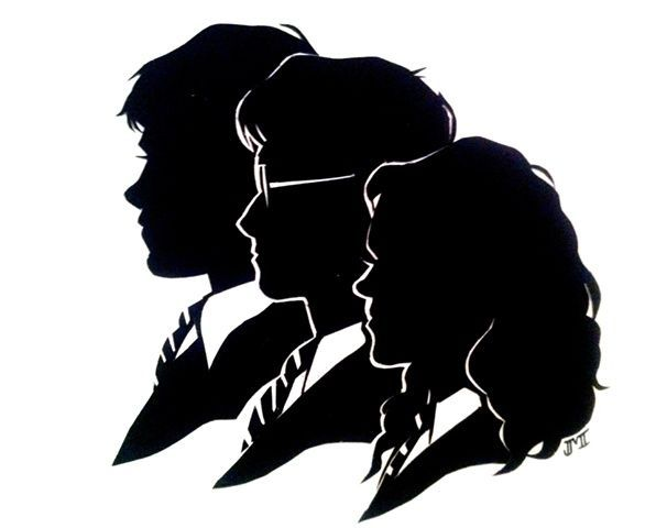 Harry potter silhouette. Hogwarts clipart google search