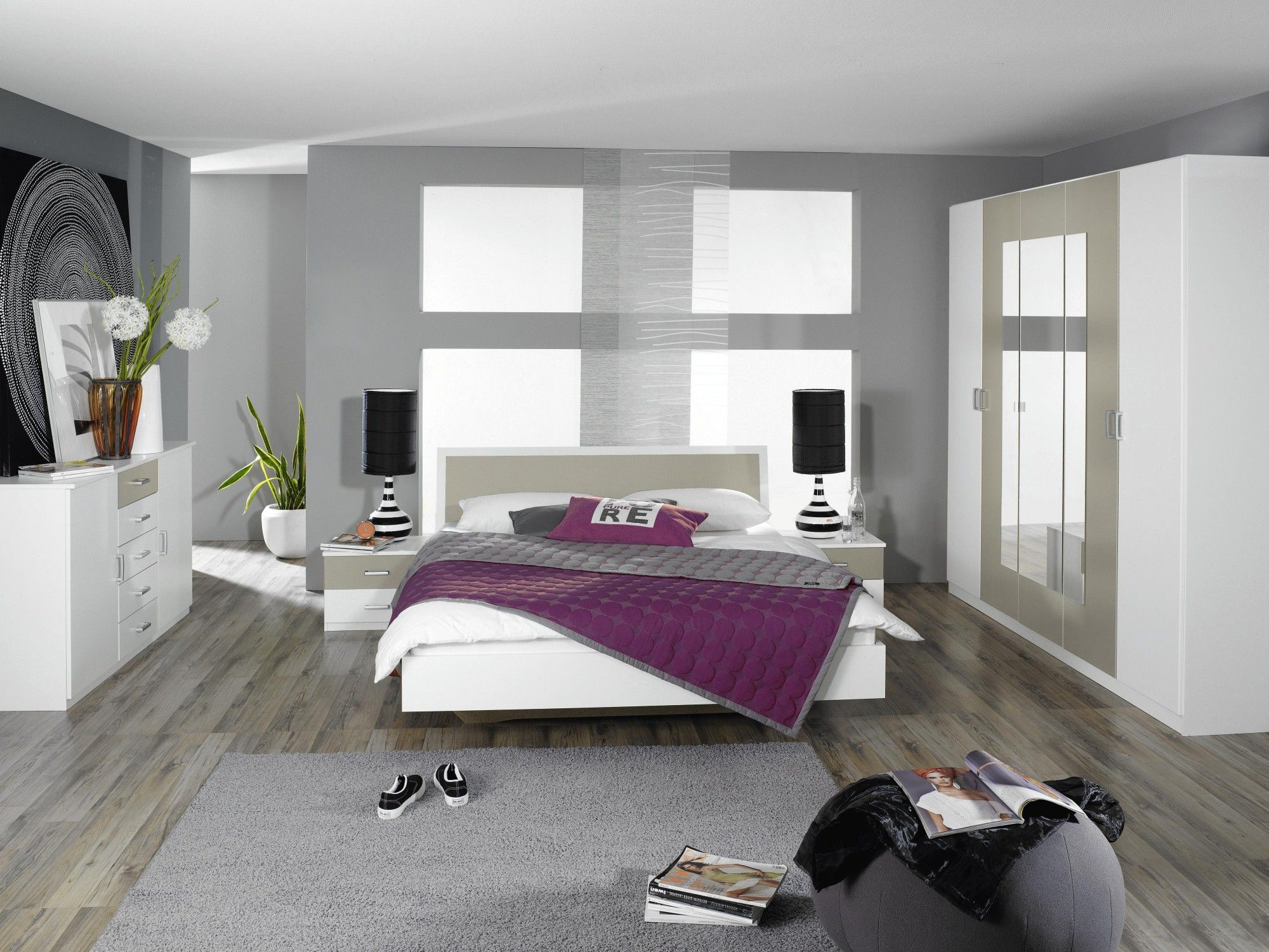 Pingl par officiel sur chambre adulte compl te chambre chambre adulte et - Chambre parentale grise ...