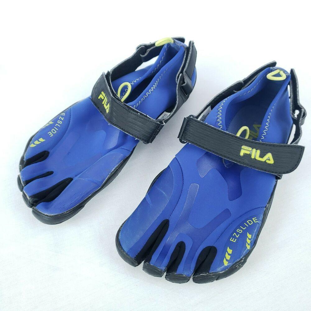 FILA Mens Size 8 Blue Skele Toes EZ