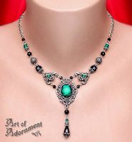 Absinthe Rhinestone Necklace by ArtOfAdornment