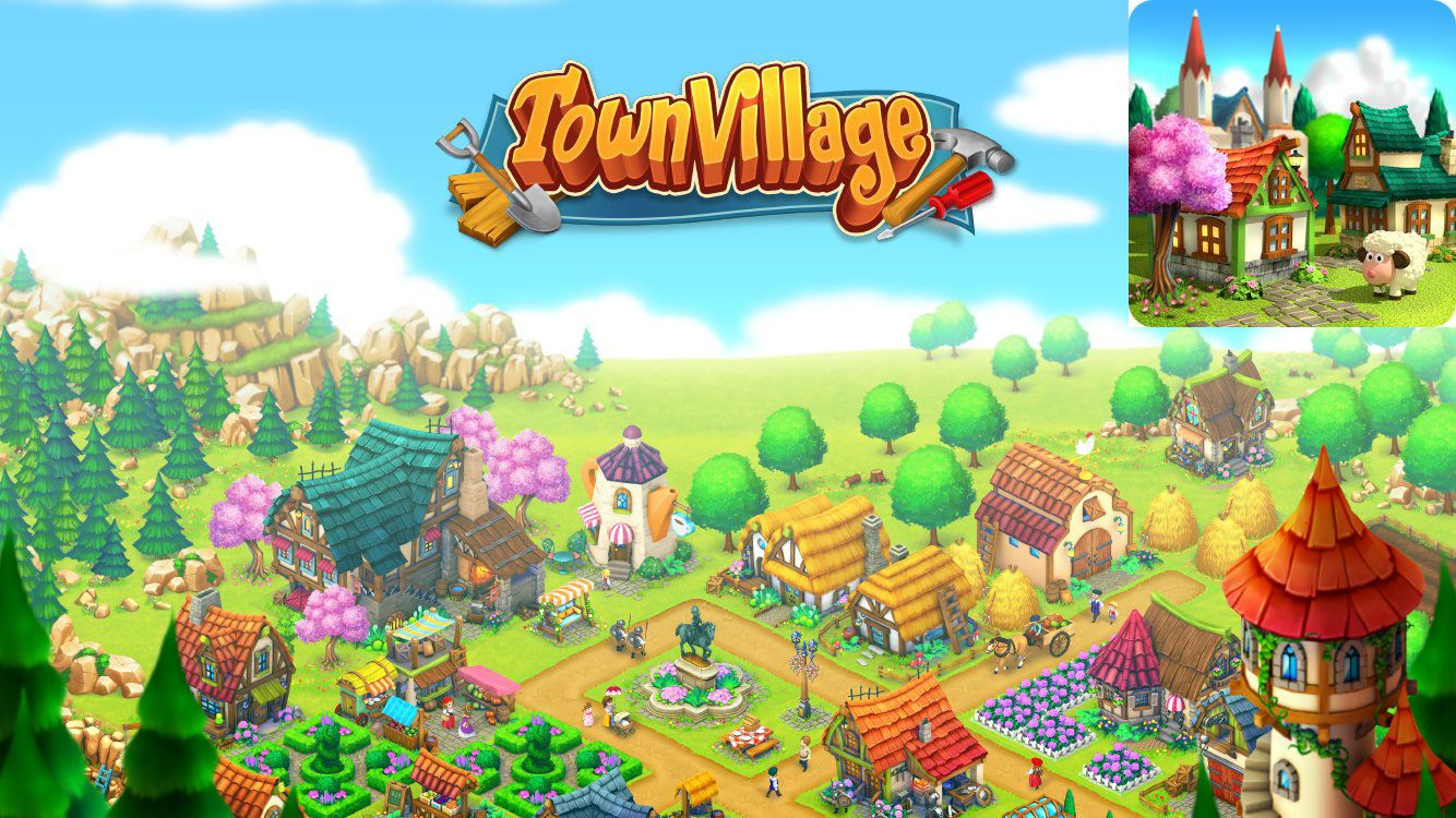 Town Village Farm, Build, Trade APK v1.2.4 + MOD (Gems