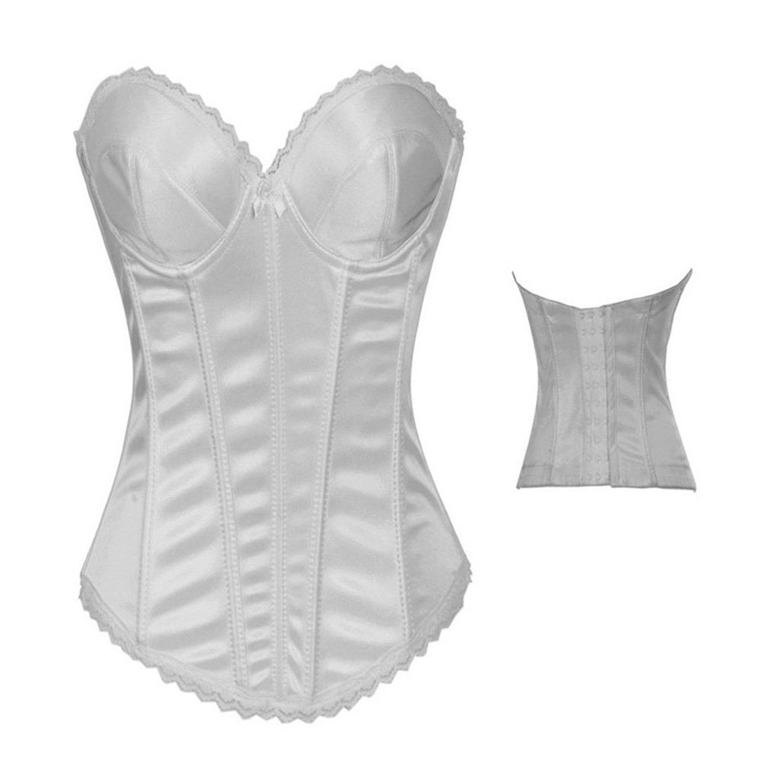 08ed7f2b017 BINCHENG Womens Lace Bridal Corset with G-string     Awesome product. Click  the image   Plus size lingerie