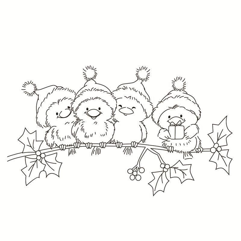 Gummi Silikon Clear Stamps Fr Scrapbooking Tampons Transparents Seal Hintergrund Stempelka Weihnachten Zum Ausmalen Weihnachtsmalvorlagen Weihnachten Zeichnung