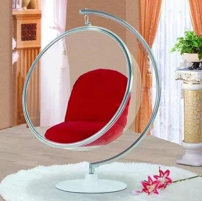 Top Bubble Chair Indoor Swing Egg Chair Space Sofa Transparent Sofa Hanging Bubble Chair Acrylic Material Trans Bubble Chair Hanging Egg Chair Hanging Chair