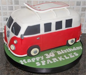 vw campervan birthday cake high wycombe men 39 s cakes. Black Bedroom Furniture Sets. Home Design Ideas
