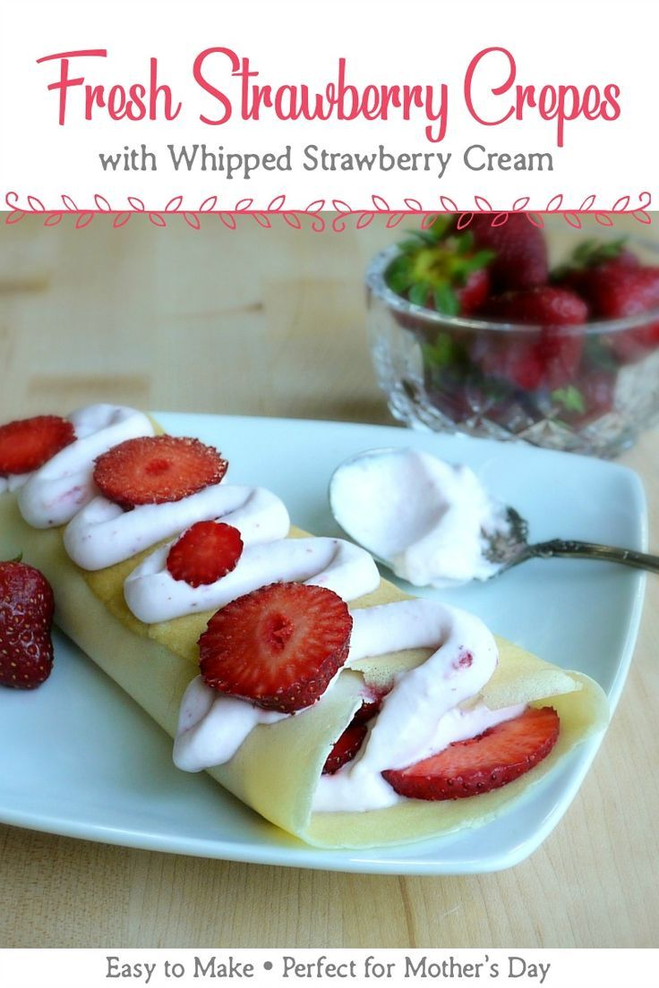 These easy-to-make Fresh Strawberry Crepes are light, creamy, and perfect for everything from an elegant brunch to a lazy summer back porch afternoon.#crepes #strawberry #strawberries #strawberryrecipes #breakfast #breakfastrecipes #breakfastideas #brunch #brunchrecipes #brunchideas #desserts #dessertrecipes #easyrecipe #recipes #mothersday #mothersdaybrunch #mothersdayrecipes