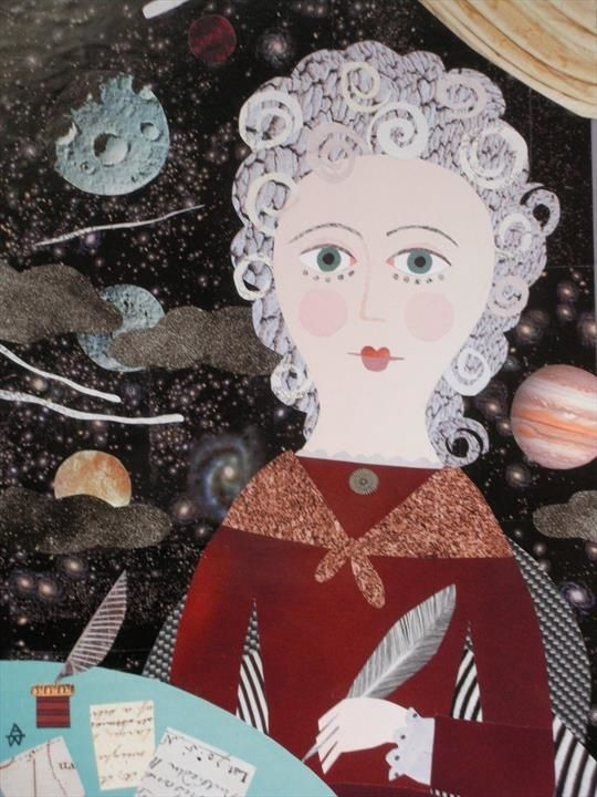 She Was, After All, the Ladies' Comet Hunter Cut paper collage by Amanda White
