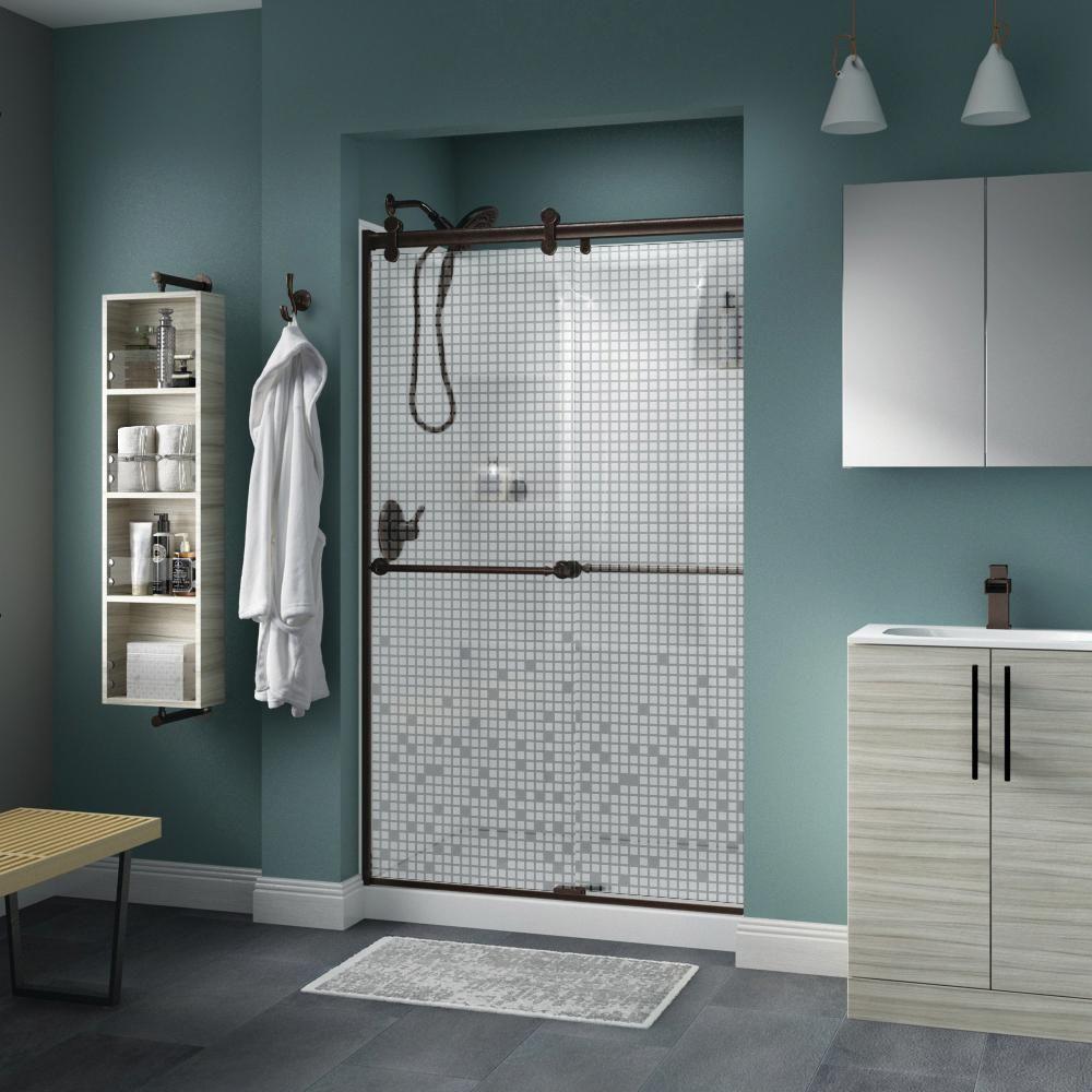 Delta Mandara 48 X 71 In Frameless Contemporary Sliding Shower