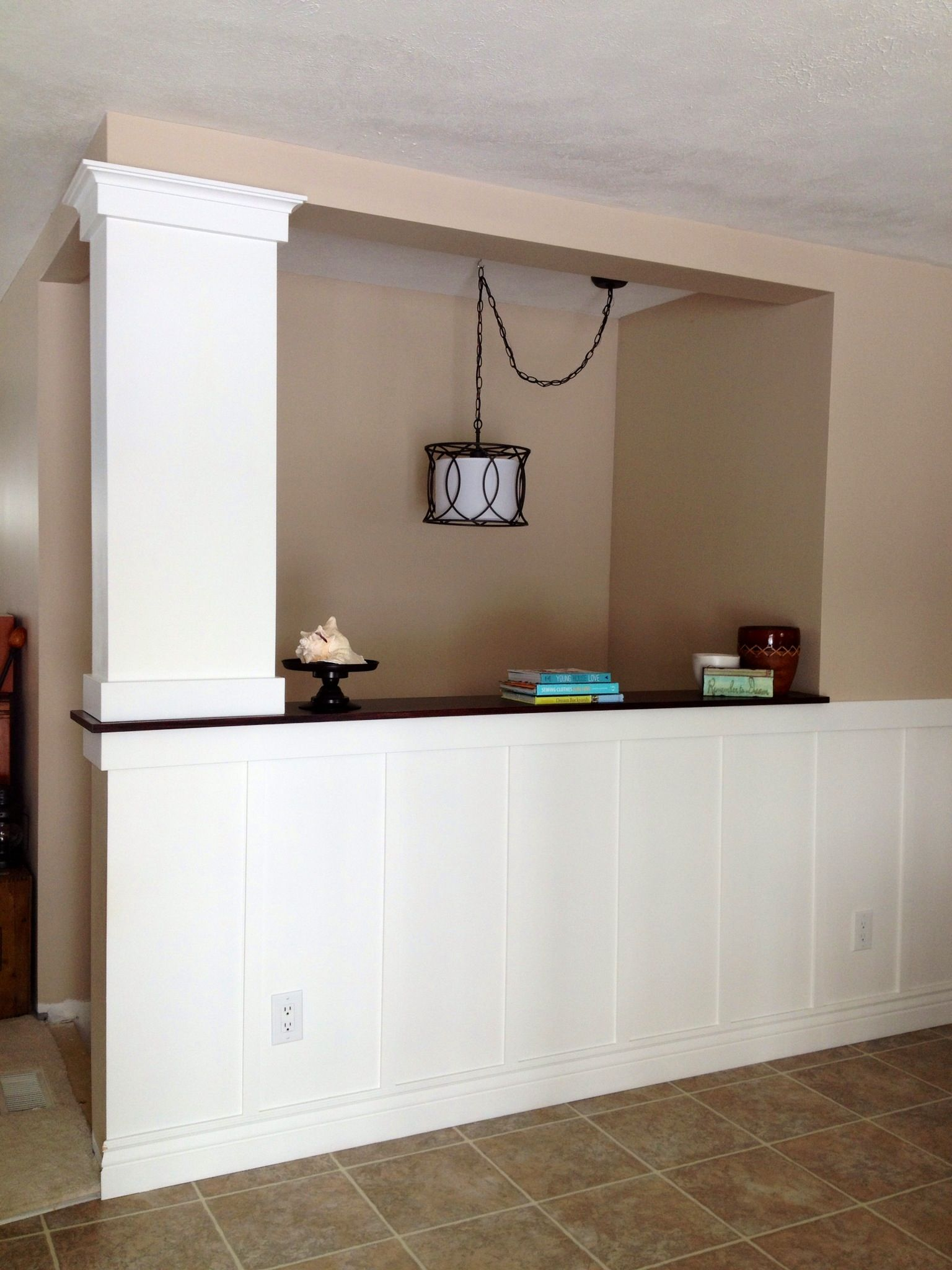 Best Board And Batten Half Wall With Column With Images 400 x 300