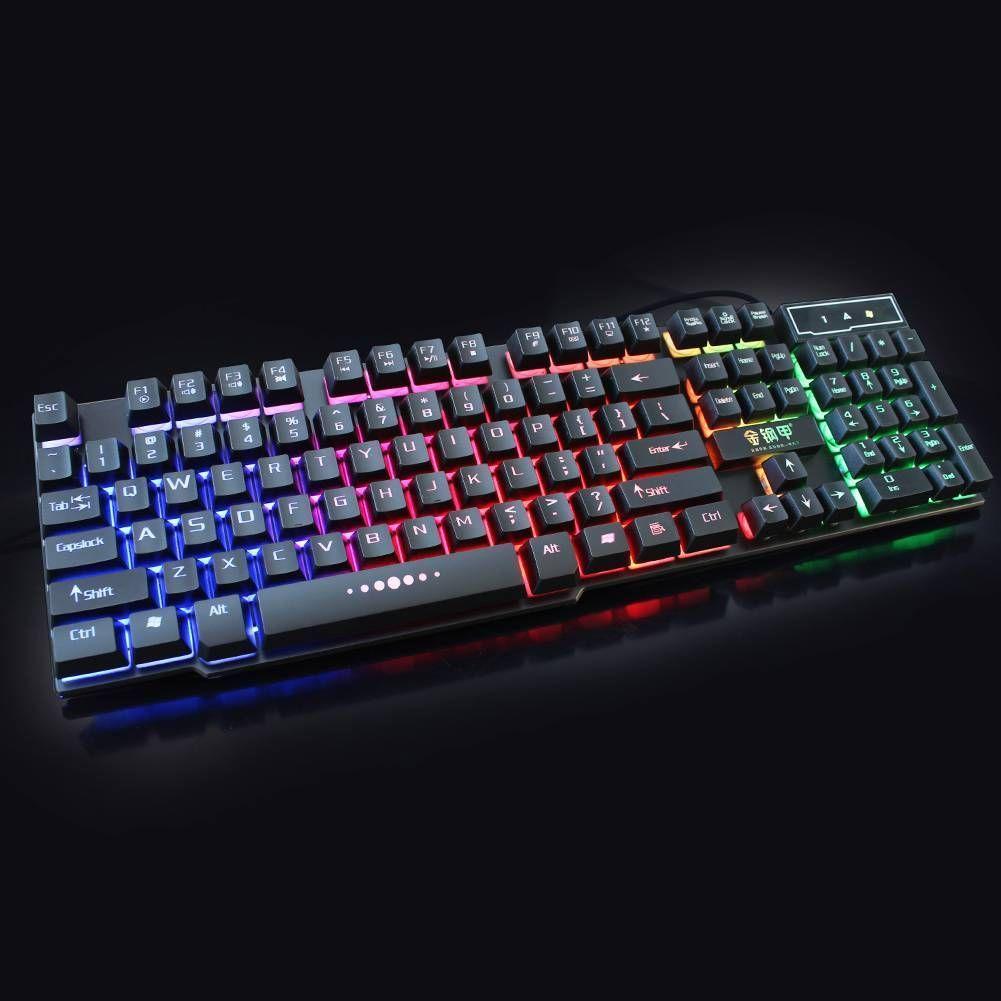 Backlit Mechanical Keyboard Wired USB Illuminated Ergonomic PC Gaming Mouse