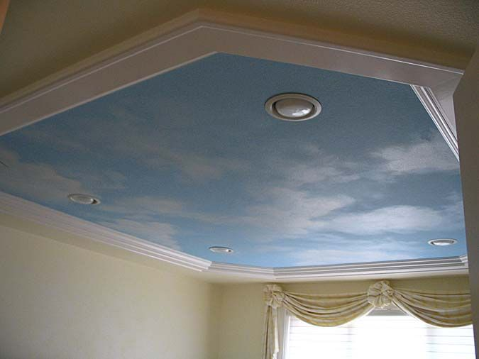 CLOUD CEILING MURALS AND PAINTED PHRASES - Paradise Studios ...