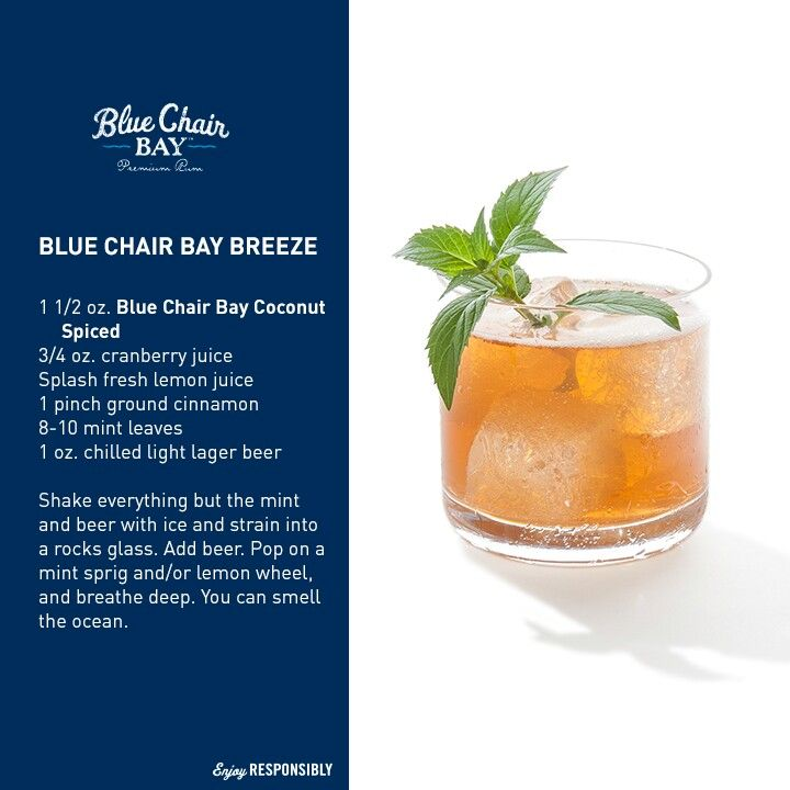 Blue chair bay breeze yummy alcoholic drinks rum