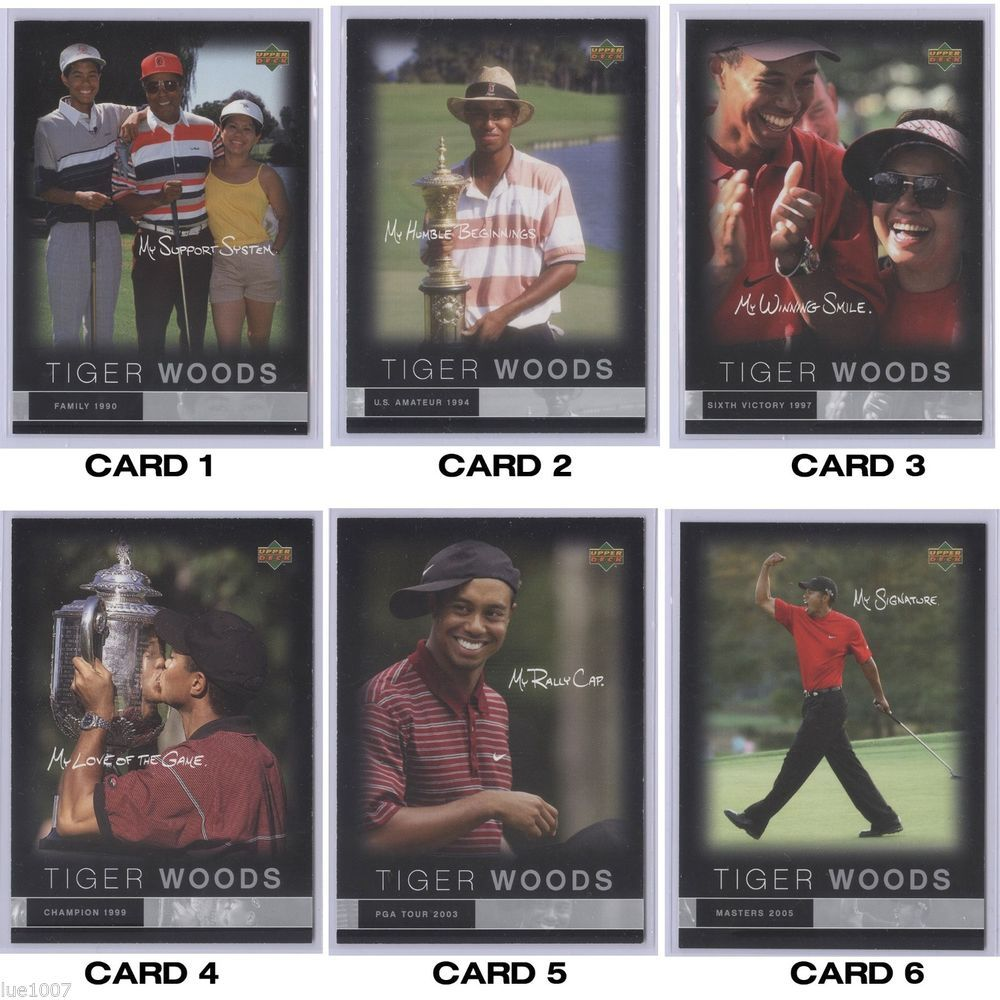 Tiger Woods Upper Deck Limited Edition American Express