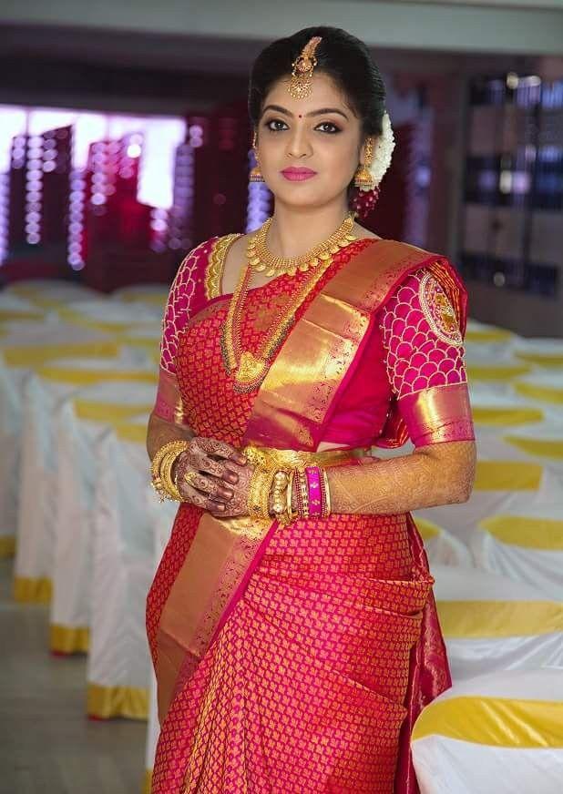 Nice Pink Princeampprincess In 2019 Bridal Silk Saree