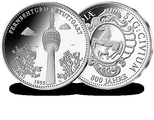 Silberprägungen 800 Jahre Stuttgart Mdm Deutsche Münze Germany