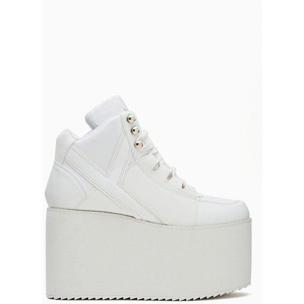 high platform white shoes