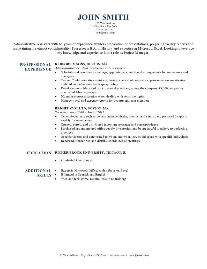 Resume Template Harvard Dark Blue   Professional   Pinterest