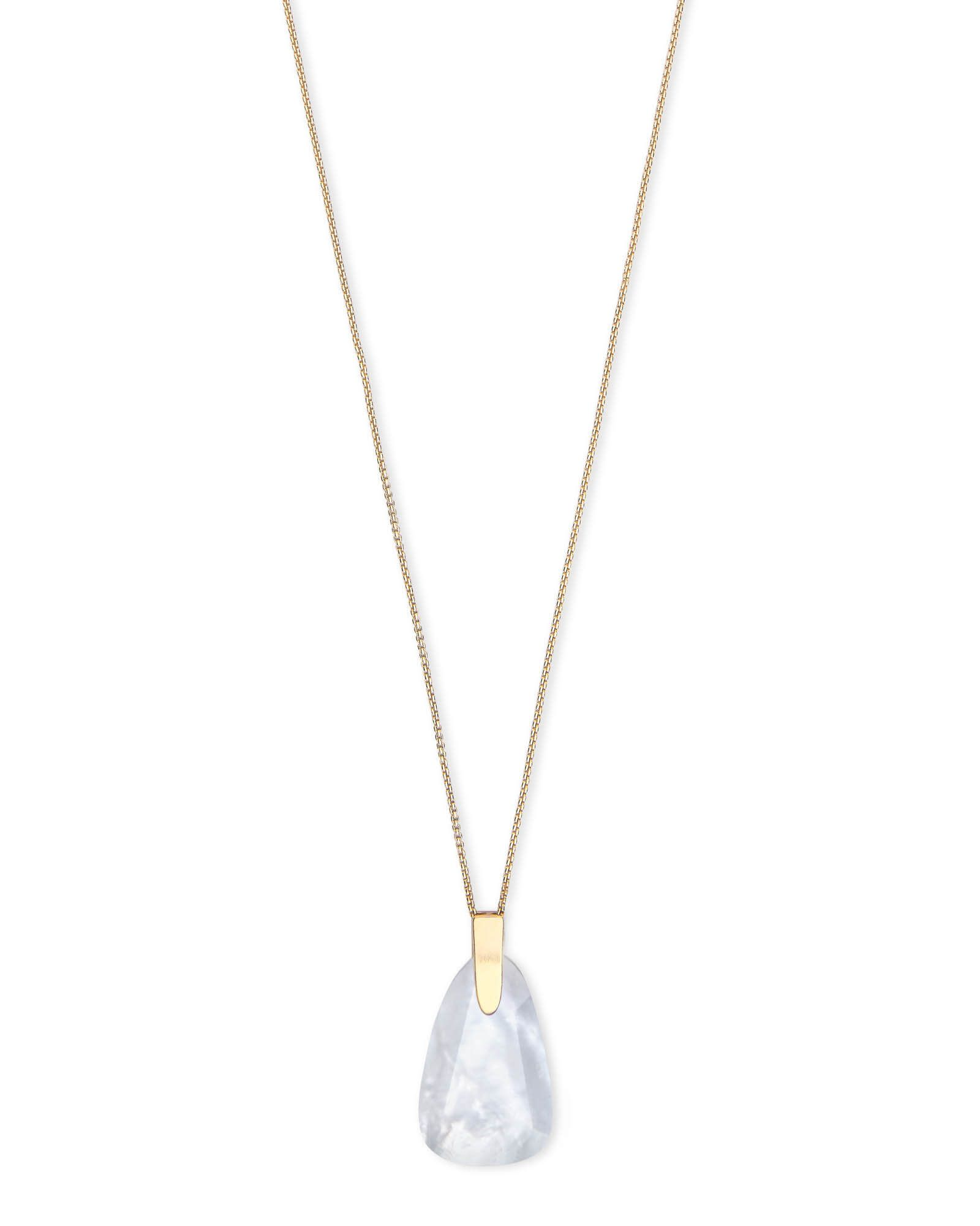 1ab35812c79e2 New at Kendra Scott | Maeve Gold Long Pendant Necklace in Ivory ...