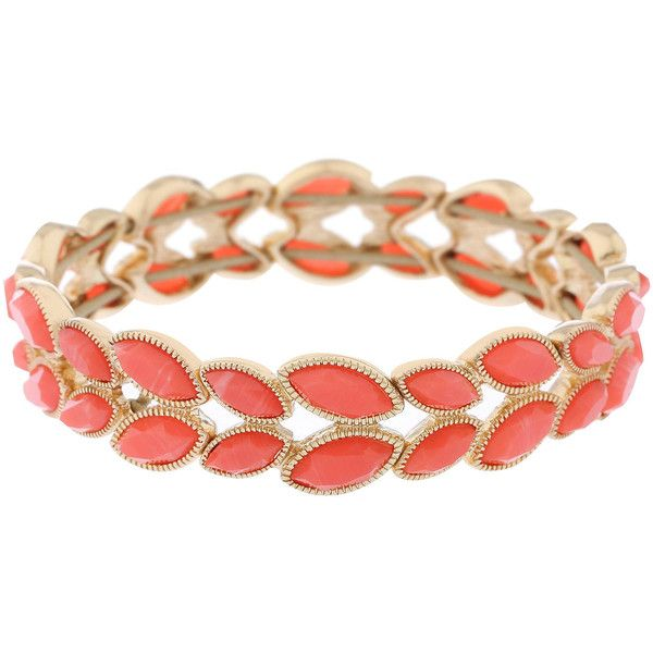 Monet Jewelry Monet Jewelry Womens Orange Stretch Bracelet ELWMIB