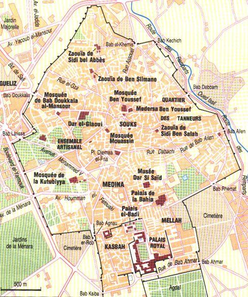 carte marrakech medina