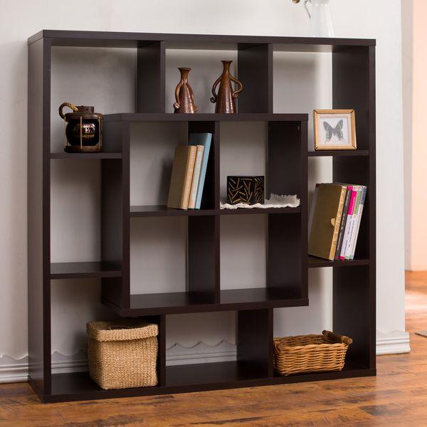 Furniture Of America Aydan Modern Square Walnut Bookshelf Room Divider Ping