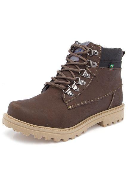 abb7d9c95 Bota Stefanini Recorte Marrom | calçados | Sapatos masculinos ...