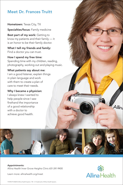 Meet Dr. Frances Truitt. She is a family medicine provider