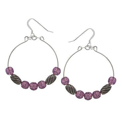 Mulberry Watercolor Earrings