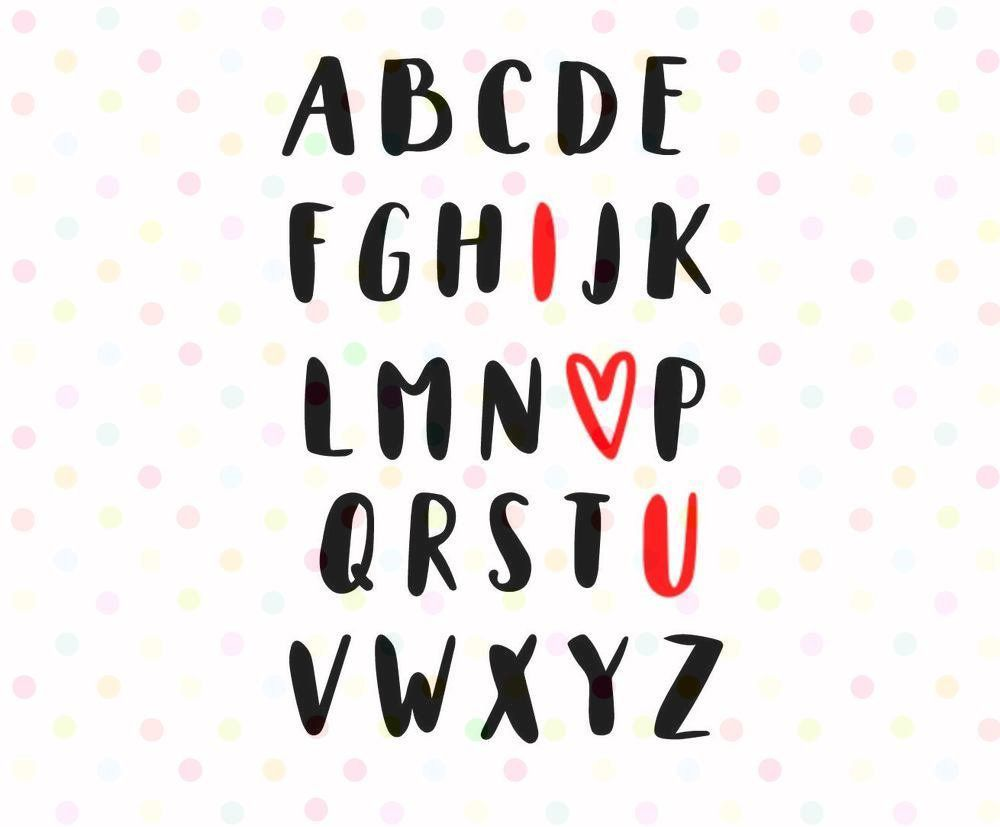 Download ABC I Love You SVG, PNG, Instant Download, Cricut and ...