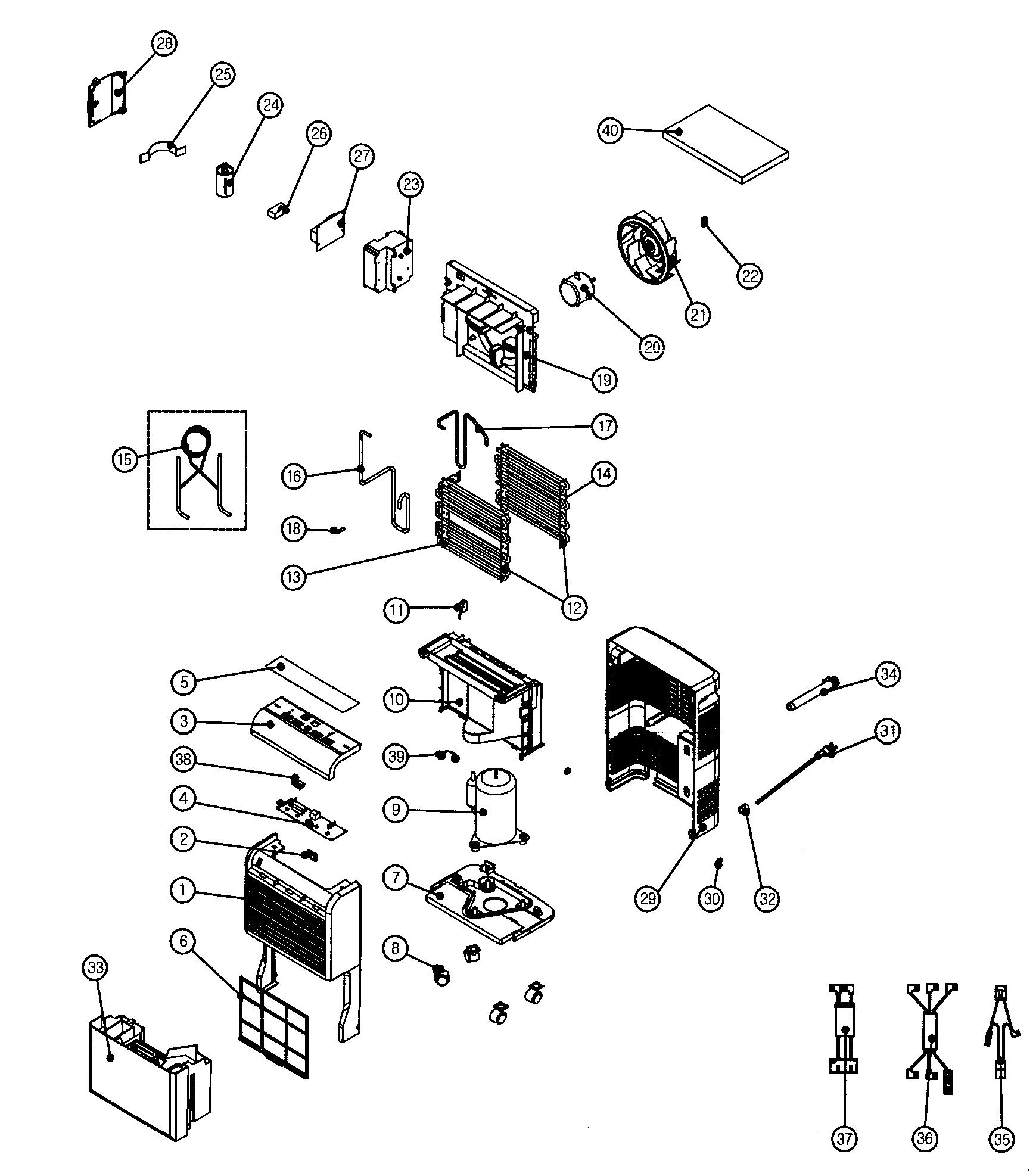 Kenmore Dehumidifier Dehumidifier Parts Model 25150351010