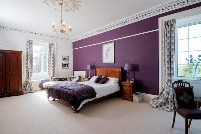 Purple Feature Wall Bedroom Our Dream Home Ideas Pinterest - Bedroom decor ideas feature wall