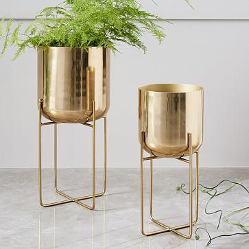 Exceptionnel Planter | Brass Accessories | Home Accessories | Interior Decor | Interior  Design | Spun Metal