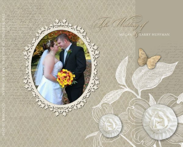 HM Wedding White Legacy 1 13x11 Legacy Storybook Template ID 68038