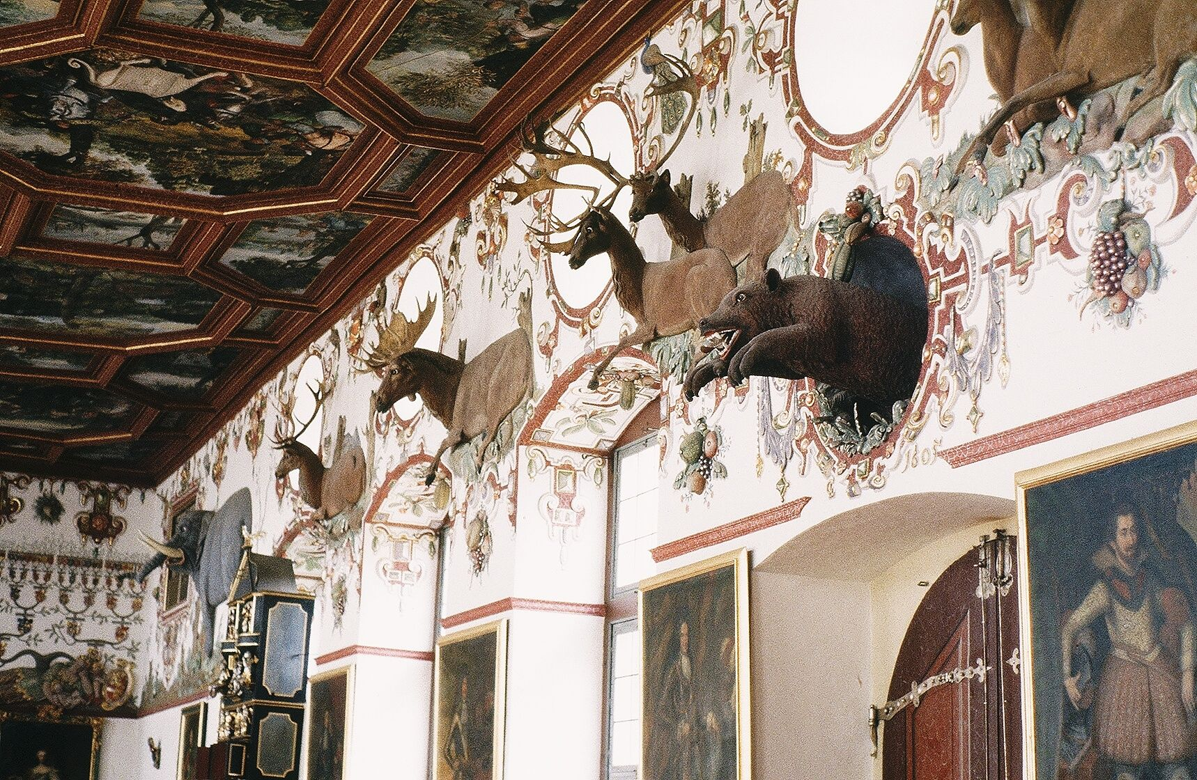 Inside the Lichtenstein Castle in Germany Swabian Alb ...