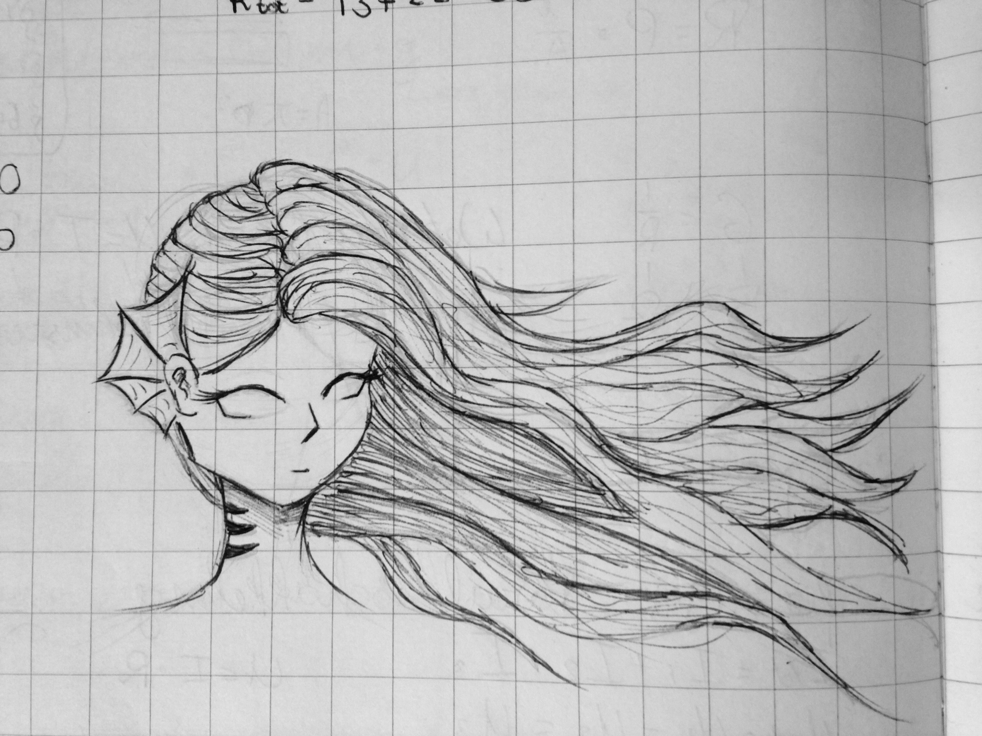 As You Can See She Has No Irises She Can Look In Your Soul She Has Fins For Ears And Long Wavy Hair Mermaid Oc School Dra My Drawings Drawings Drawing