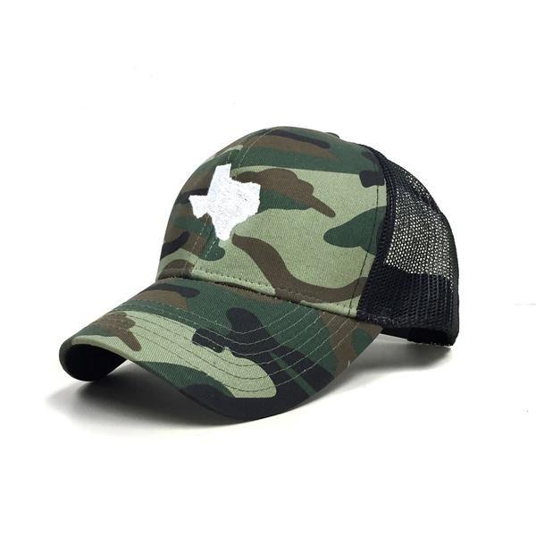 6dd811f51a2488 Dark Woodland Camo Texas Trucker Hat - Texas Humor Store ...
