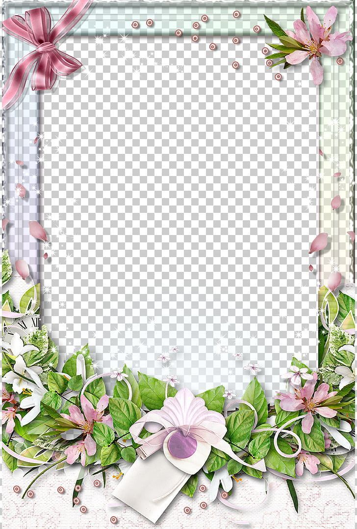 Flowers Frame Material PNG beautiful, border texture