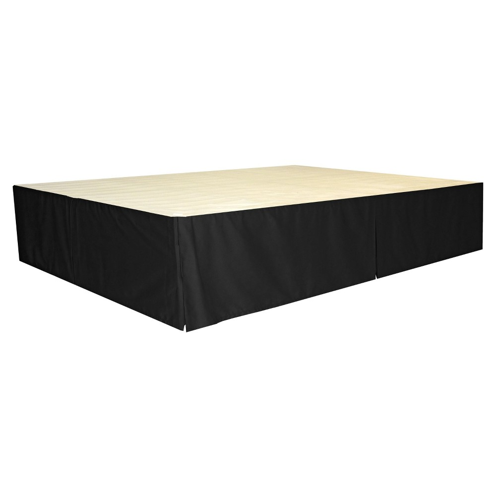 Durabed Steel Platform Bed Frame Decorative Bed Skirt - Black - Full ...