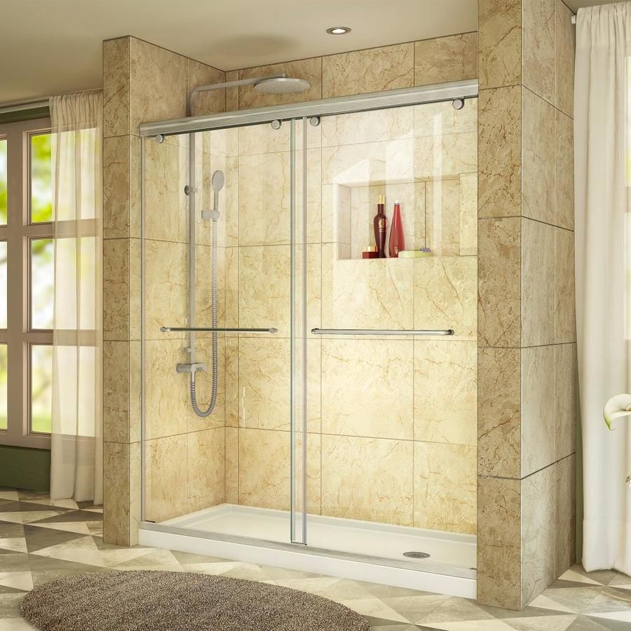 Charisma Brushed Nickel Walls Not Included Wall And Floor 2 Piece