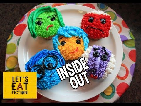 INSIDE OUT Cupcakes DisneyPixar Lets Eat Fiction YouTube