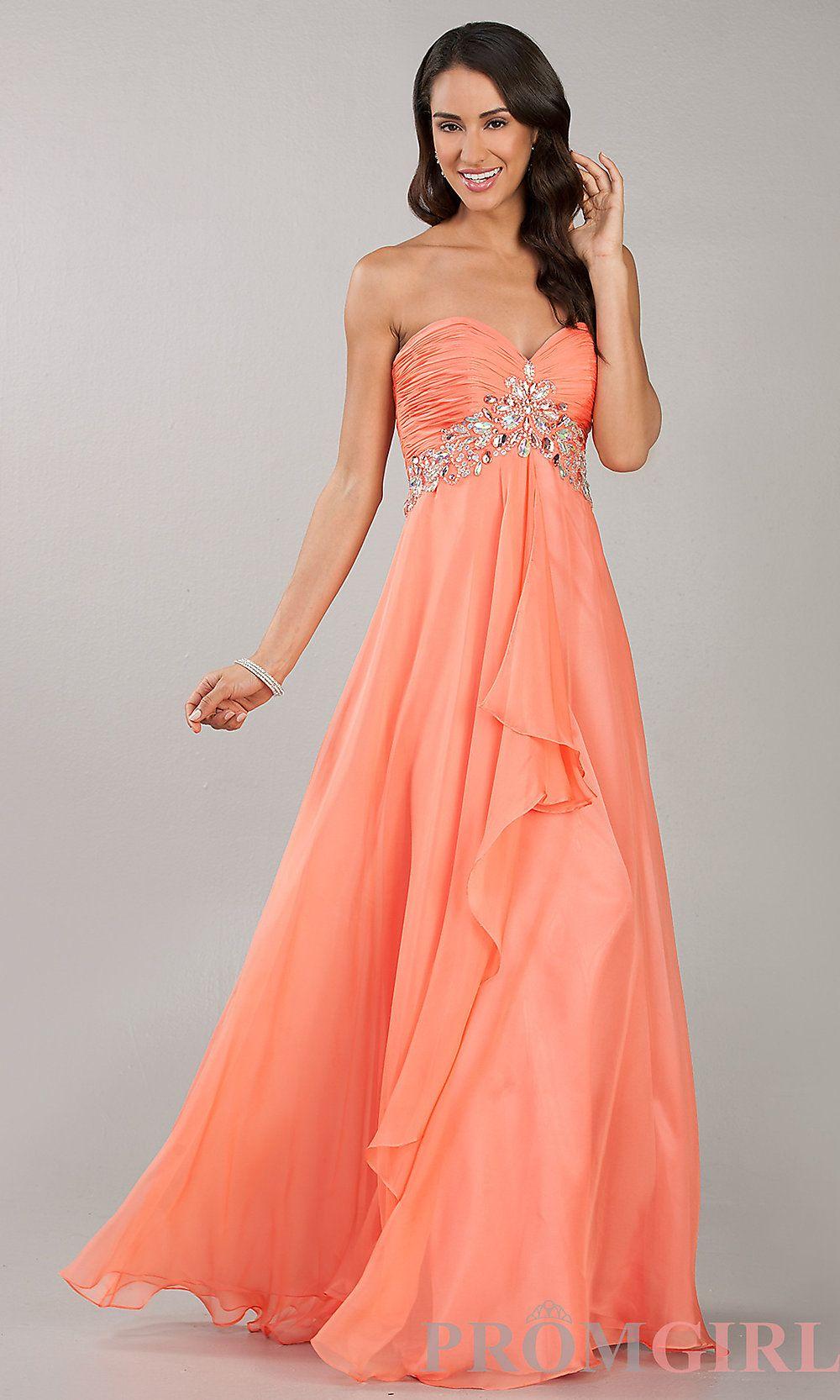salmon colored formal dress  601e0b83e6c7