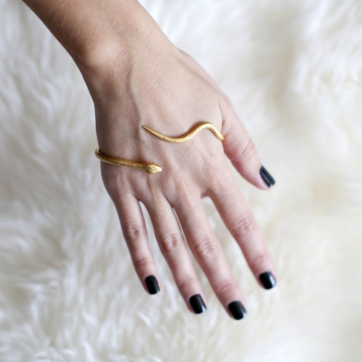 GOLD SNAKE HAND WRAP Reminds me of a snake I smuggled from Florida ...