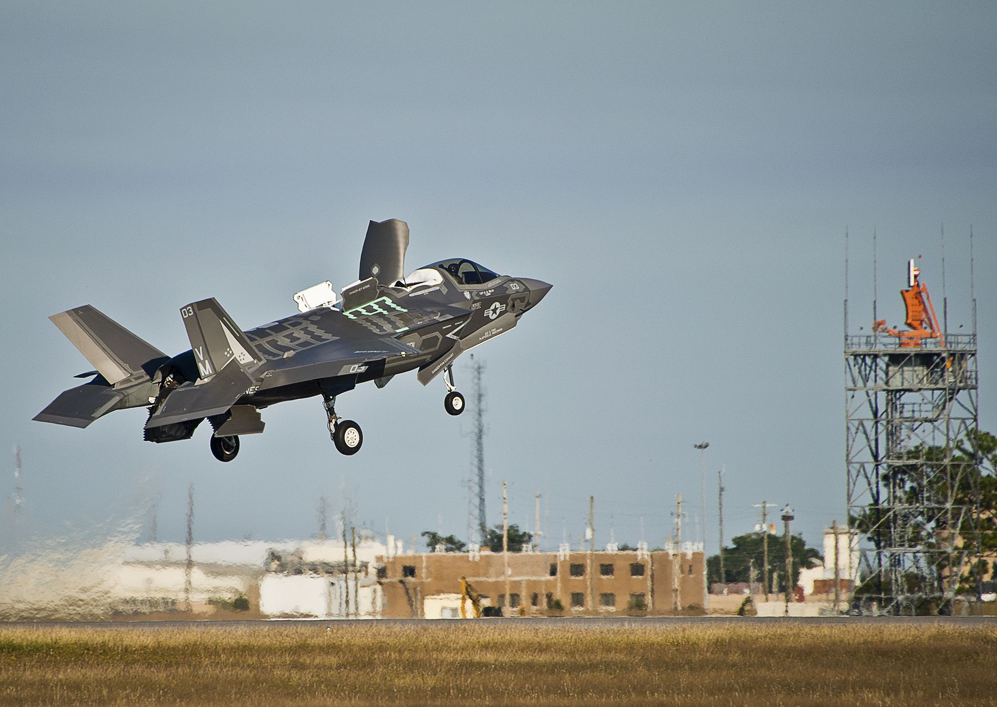 Flight testing of the STOVL propulsion system began on 7 January 2010. The F-35B's first hover was on 17 March 2010, followed by its first vertical landing the next day.