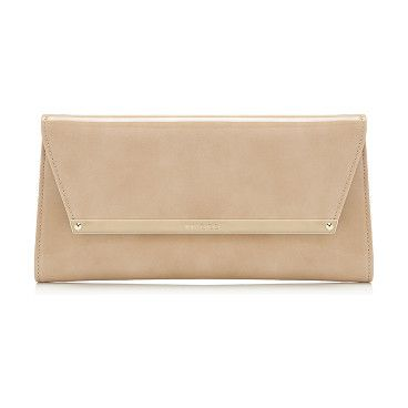 c04d15cb8d28 Margot Nude Patent And Suede Clutch Bag