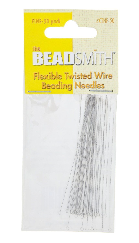 Big Eye Curved Beading Needles Needle 125x0.6mm Easy Thread Craft Jewellery