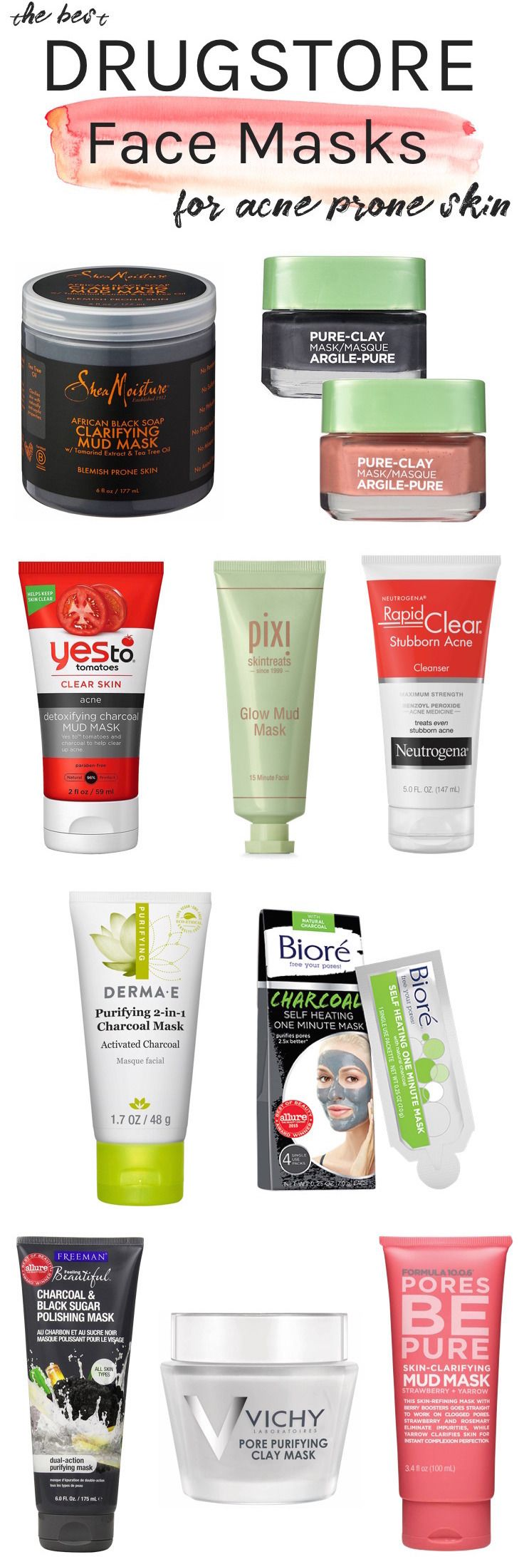 Best Drugstore Face Masks For Acne Prone, Oily Skin (All