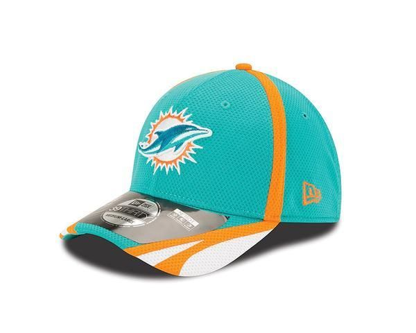 Miami Dolphins NFL14 On Field Training Camp 39Thirty Flex Hat in ... a8c8e452671d