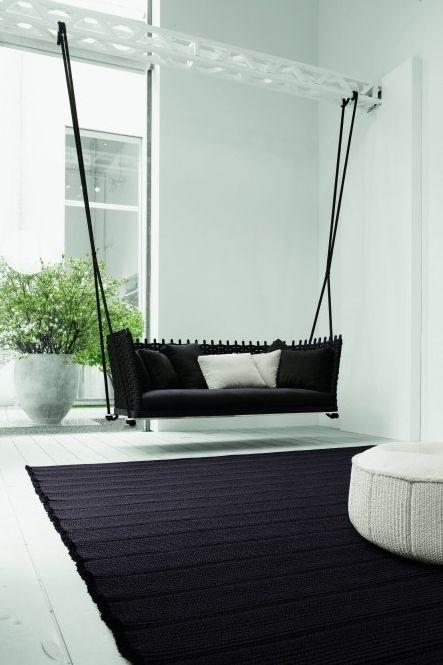 Design Hangstoel Binnen.Swing Hangstoel Indoor Binnen Meubel Zwart Www Leemconcepts Nl