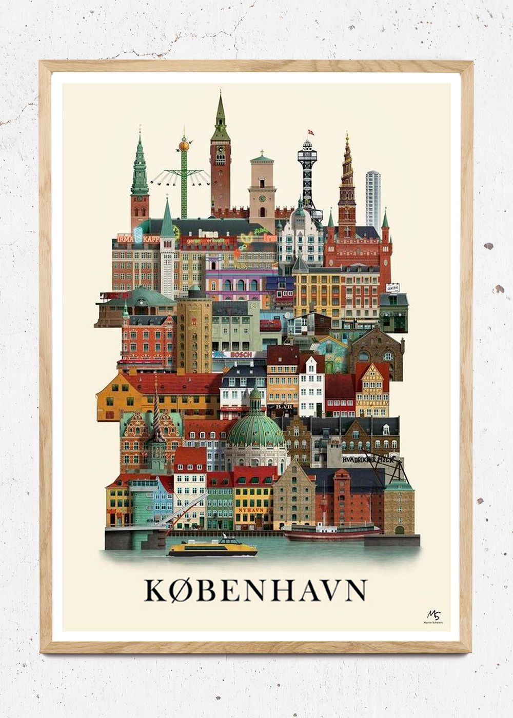 Ms Kobenhavn Plakater Rejseplakat Vintage Plakater